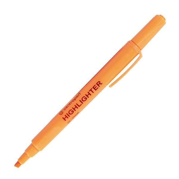 Маркер текстовый CENTROPEN FAX 1-4 мм оранжевый скошенный