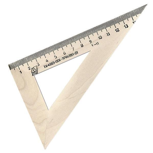 Треугольник 30° 16 см, дерево