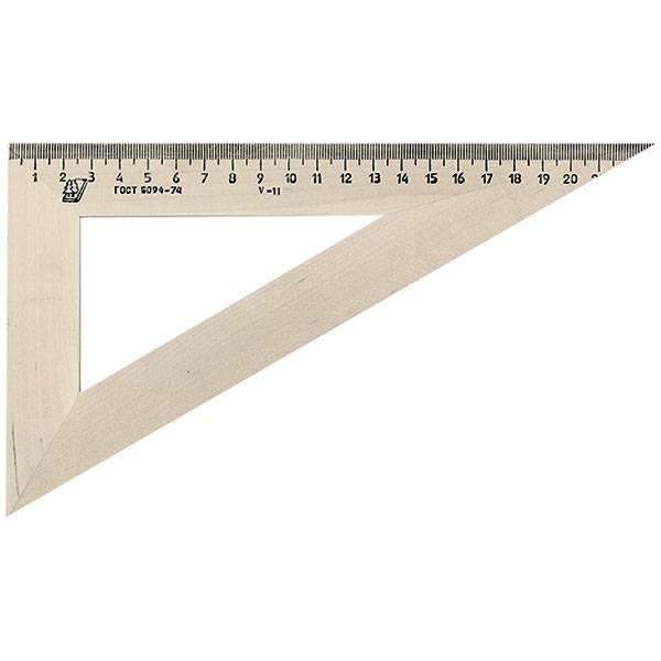 Треугольник 30° 23 см, дерево