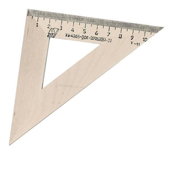 Треугольник 45° 11 см, дерево