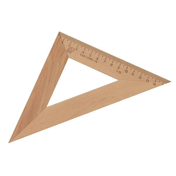 Треугольник 45° 16 см, дерево