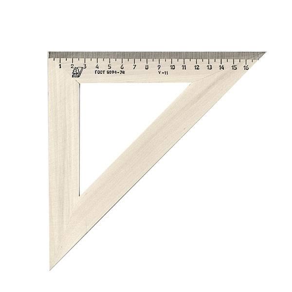 Треугольник 45° 18 см, дерево