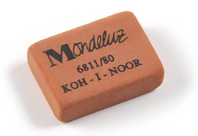 Ластик KOH-I-NOOR MONDELUZ 6811/80 (HB-6B) 26×18,5×8 мм каучук