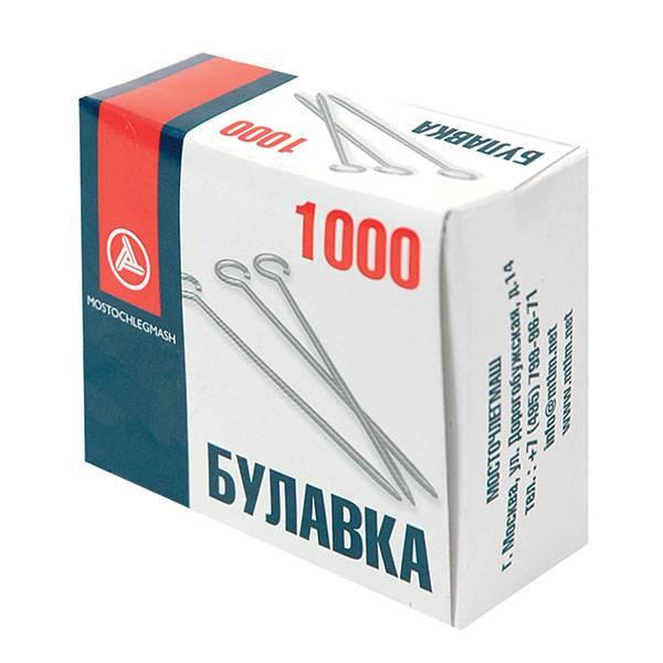 Булавки 30 мм, 1000 шт. в упаковке