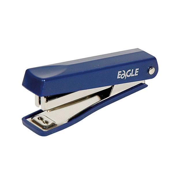 Степлер EAGLE ETERNA №10 до 8 листов, пластик, синий