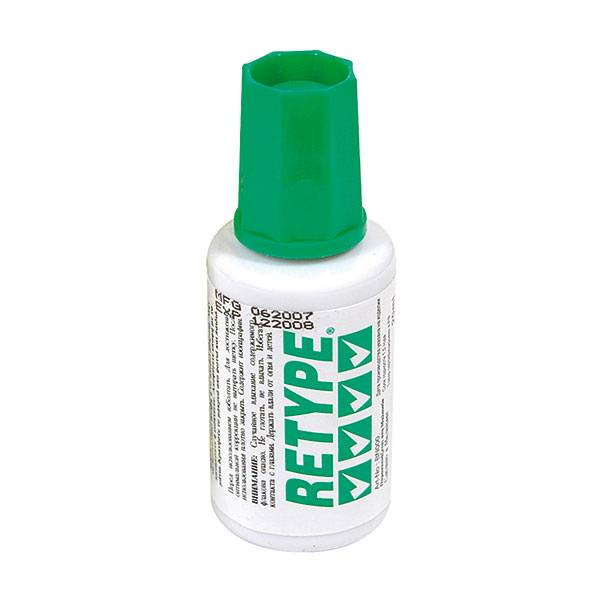 Корректирующая жидкость RETYPE 20 мл с кисточкой