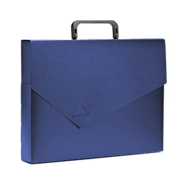 Портфель РЕГИСТР А4, 40 мм, 1 отделение, пластик 700 мкм, синий