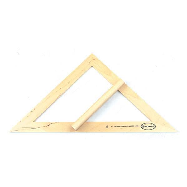 Треугольник классный 45°, дерево, с держателем
