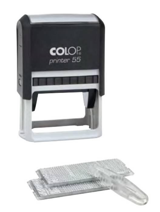 Штамп самонаборный PRINTER 55 SET 8/10 строчный, 40×60 мм, 2 кассы, пластик