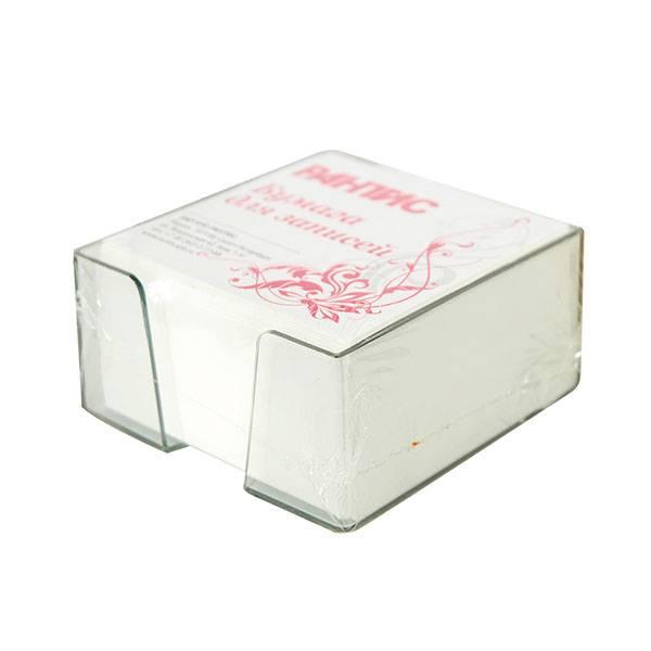 Подставка для блок-кубиков с блоком для записей 90x90x45 мм, дымчатая