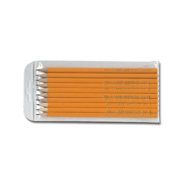 Набор чернографитных карандашей, KOH-I-NOOR, 10 шт, 2В-2Н, заточенные, шестигранные