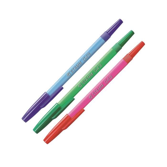 Набор шариковых ручек 049 1 мм 3 цвета ассорти