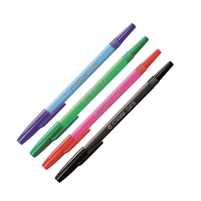 Набор шариковых ручек 049 1 мм 4 цвета ассорти