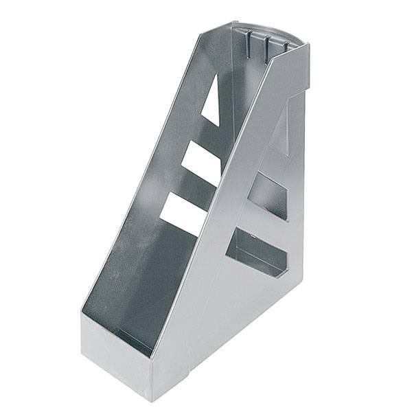 Лоток вертикальный СТАММ 100 мм, серый пластик