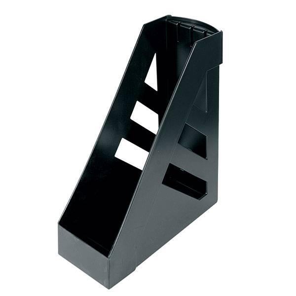 Лоток вертикальный СТАММ 100 мм, черный пластик