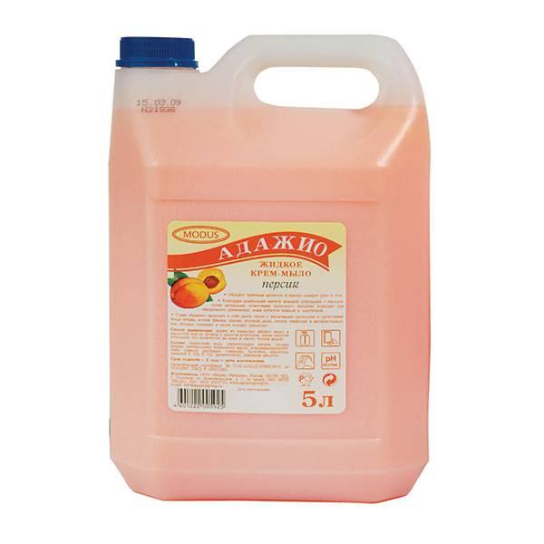 Жидкое мыло АДАЖИО Персик 5 л (канистра)