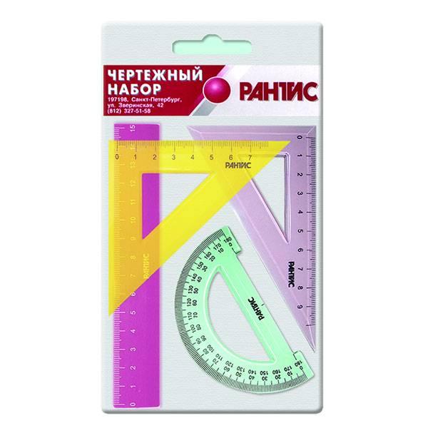 Набор геометрический 4 предмета, малый, пластик