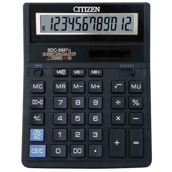 Калькулятор CITIZEN SDC-888 T 12-разрядный бухгалтерский черный