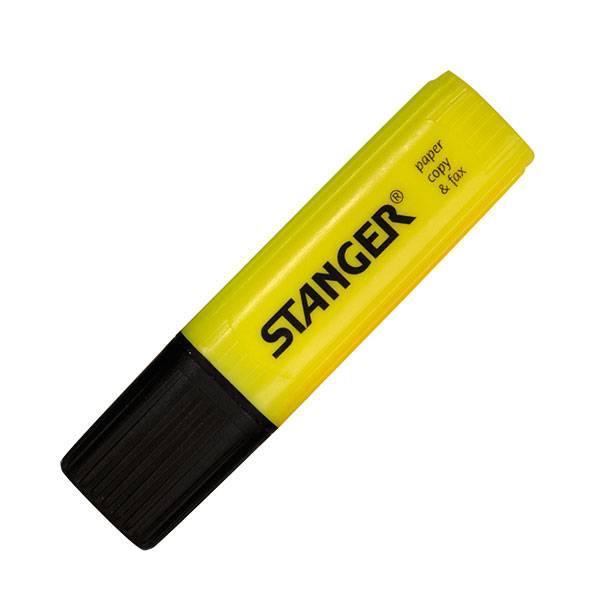 Маркер текстовый PAPER & FAX 1-5 мм желтый скошенный