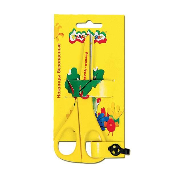 Ножницы детские Каляка-Маляка 13,5 см, пластиковые с металлическими лезвиями