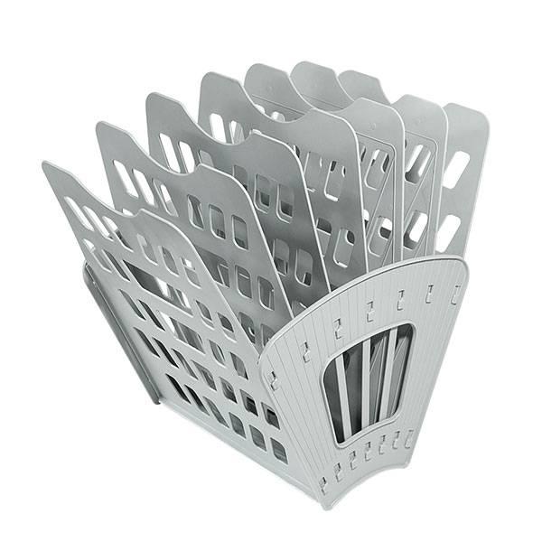 Лоток универсальныйСТАММ 7 секций серый пластик