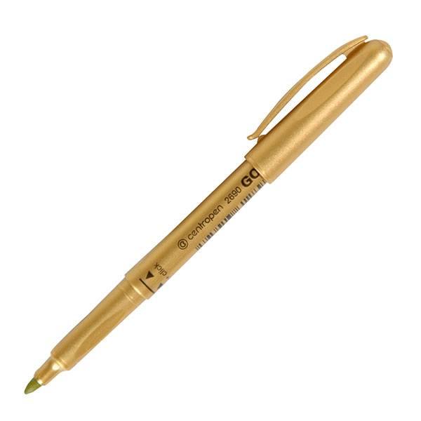 Маркер CENTROPEN GOLD, 1,5-3 мм золотой круглый