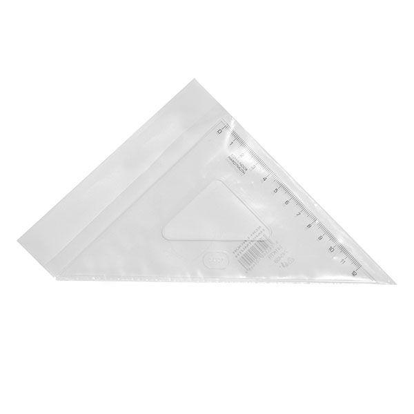 Треугольник, 45 градусов, 14,1 см, пластик, прозрачный