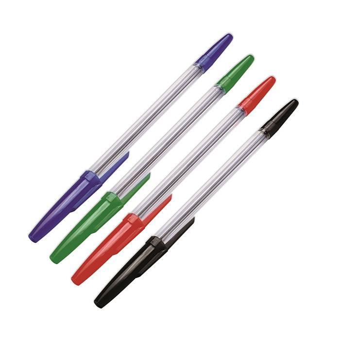 Набор шариковых ручек ОПТИМА 1 мм 4 цвета ассорти