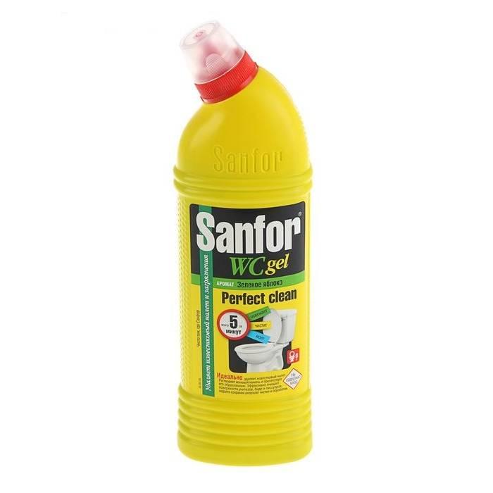 Чистящее средство для унитаза, гель SANFOR Ассорти 750 мл