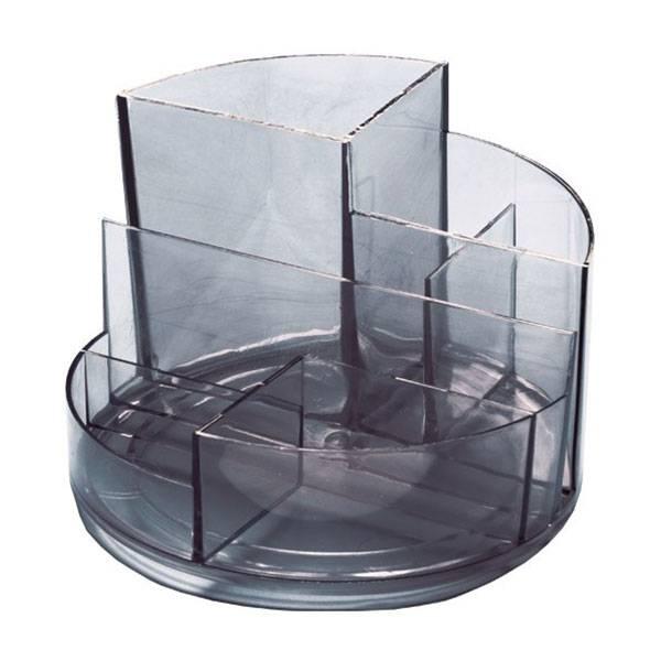 Подставка СТАММ ПРОФИ, 6 отделений серый пластик