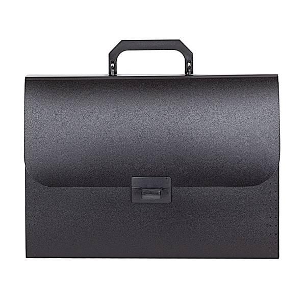 Портфель inФОРМАТ А4, 13 отделений пластик 700 мкм, черный