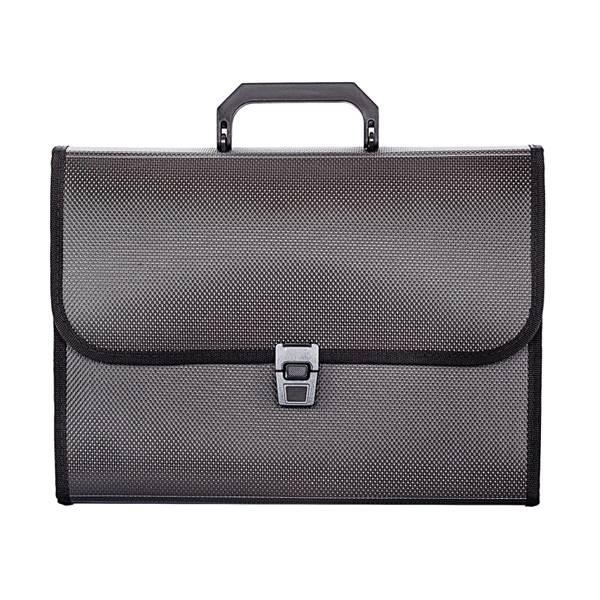 Портфель inФОРМАТ А4, 7 отделений пластик 950 мкм, черный