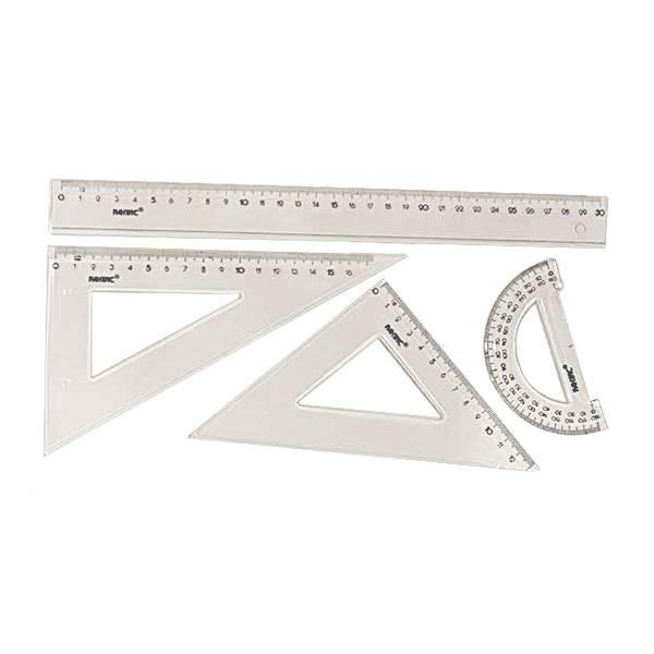 Набор геометрический 4 предмета, большой, пластик