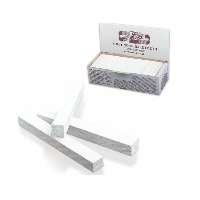 Мелки белые школьные KOH-I-NOOR 100 шт., картонная упаковка