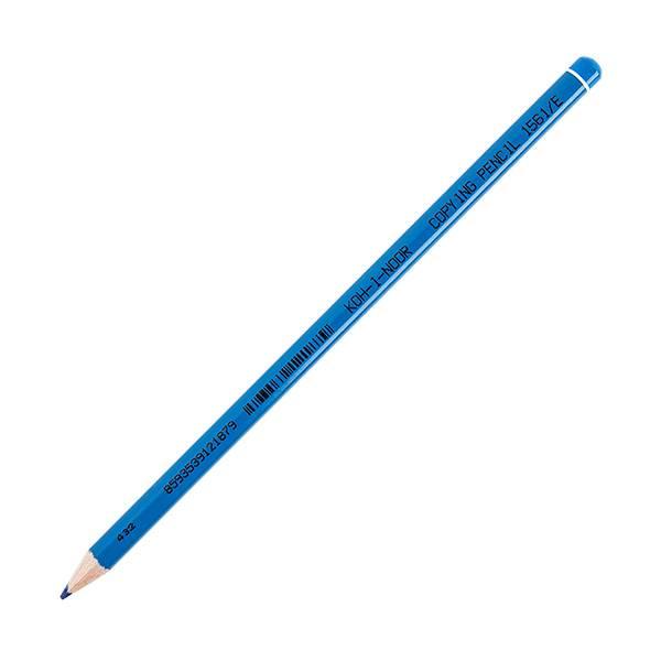 Карандаш специальный химический KOH-I-NOOR круглый, заточенный, синий