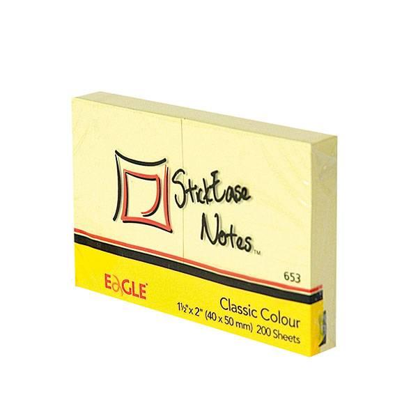 Блок самоклеящийся EAGLE 51х38 мм 2 штуки 100 листов, пастель желтый