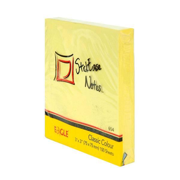 Блок самоклеящийся EAGLE 75х75 мм 100 листов, пастель желтый
