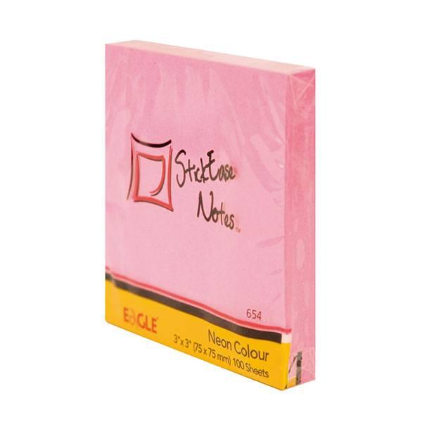 Блок самоклеящийся EAGLE 75х75 мм 100 листов, розовый пастель