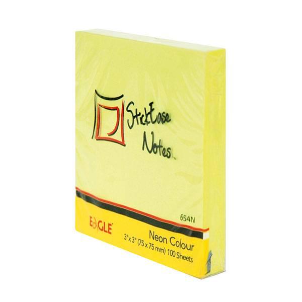 Блок самоклеящийся EAGLE 75х75 мм 100 листов, неон желтый