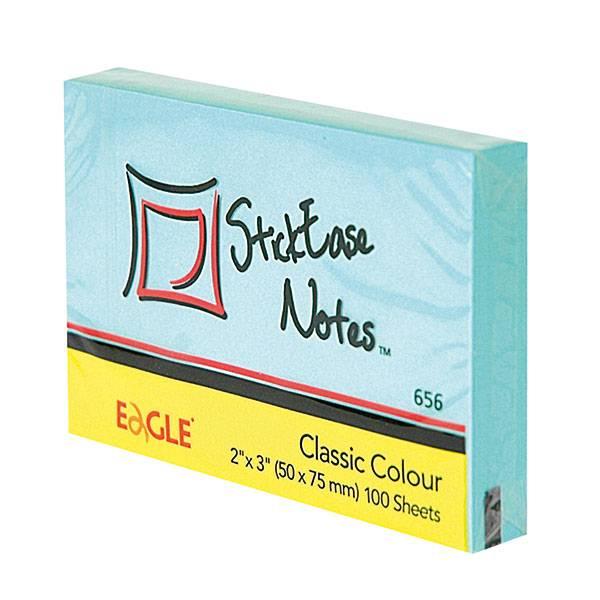 Блок самоклеящийся EAGLE 51х75 мм 100 листов, пастель голубой