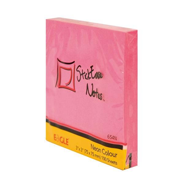 Блок самоклеящийся EAGLE 75х75 мм 100 листов, неон розовый