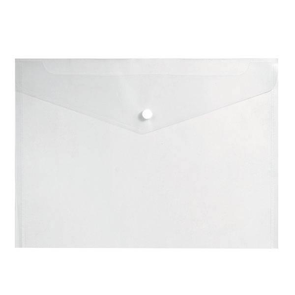 Пластиковый конверт inФОРМАТ А4, на кнопке, прозрачный 150 мкм
