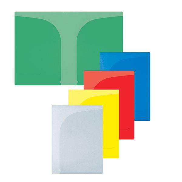 Папка-уголок inФОРМАТ А4, 2 кармана, прозрачный пластик 150 мкм, ассорти