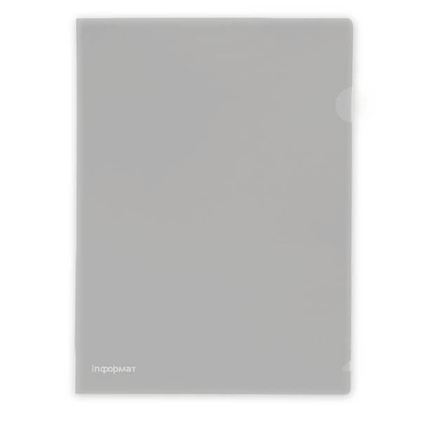Папка-уголок inФОРМАТ А4, прозрачный пластик 180 мкм