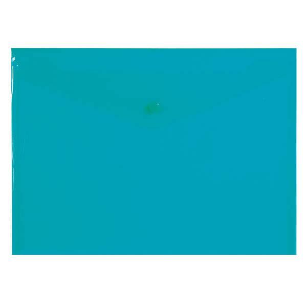 Пластиковый конверт inФОРМАТ А4, на кнопке, прозрачный 180 мкм, зеленый