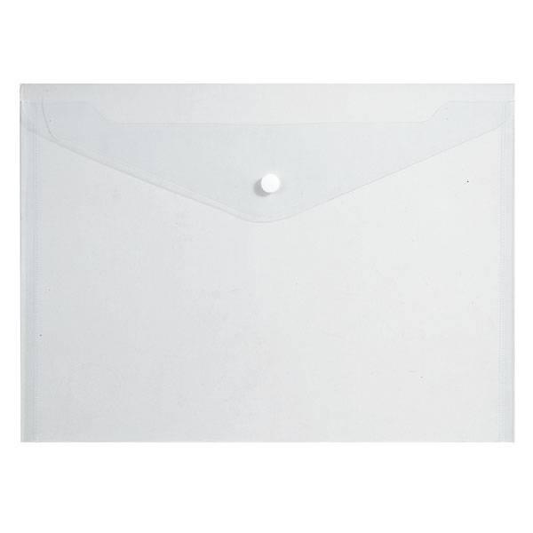 Пластиковый конверт inФОРМАТ А4, на кнопке, прозрачный 180 мкм