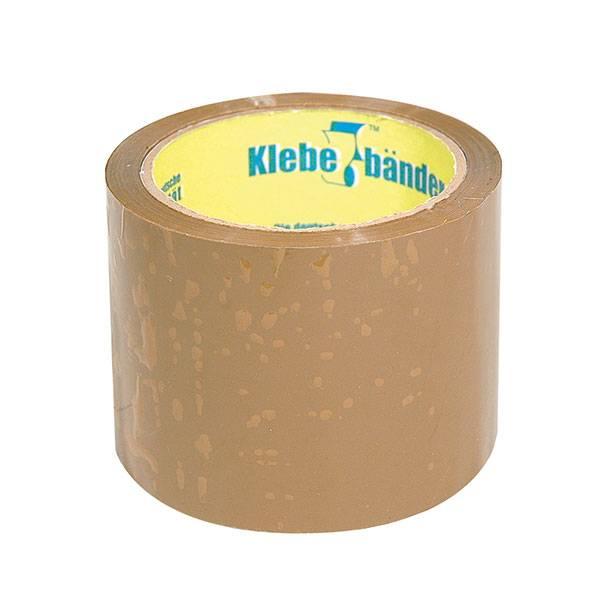 Лента упаковочная KLEBEBANDER 75 мм х 66 м, 45 мкм коричневая