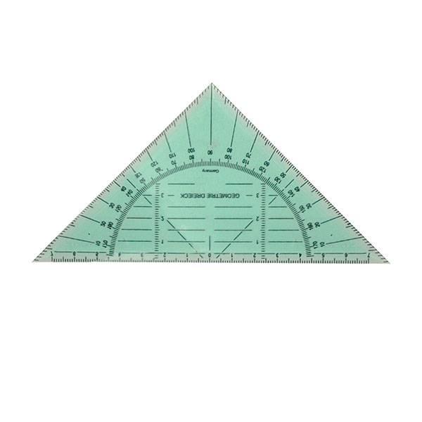 Транспортир в треугольнике 180° 15 см, пластик