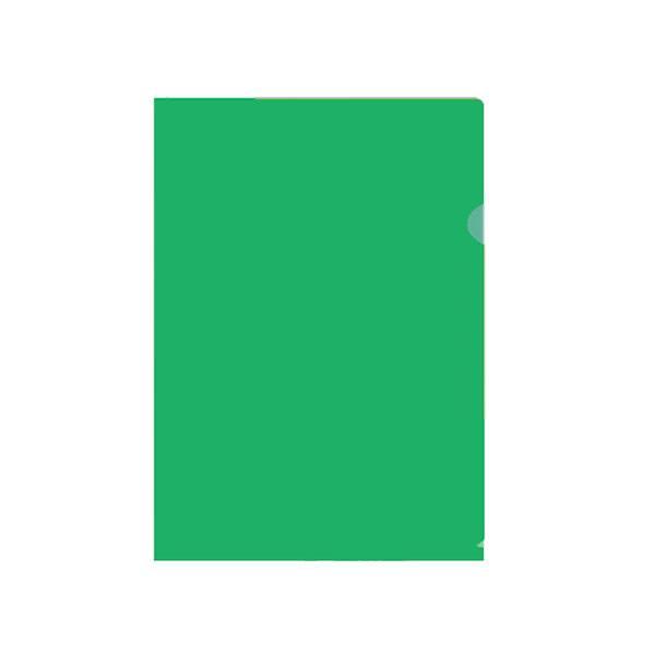 Папка-уголок inФОРМАТ А4, прозрачный пластик 150 мкм, зеленая