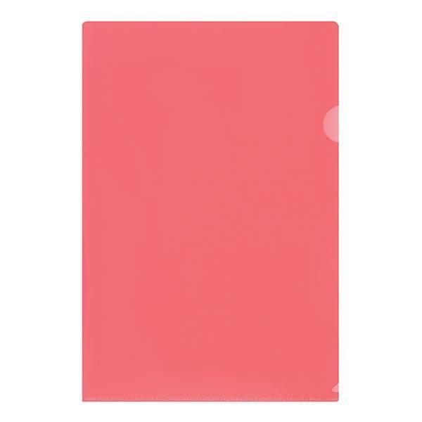 Папка-уголок inФОРМАТ А4, прозрачный пластик 150 мкм, красная